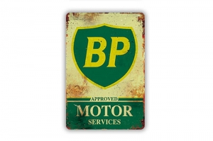 "Blacha / tablica ozdobna ""BP MOTOR SERVICES"" 20x30 cm"