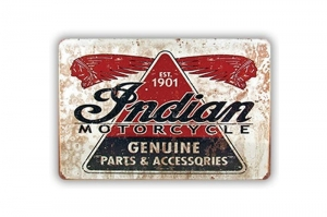 "Blacha / tablica ozdobna ""INDIAN MOTORCYCLES"" 20x30 cm"