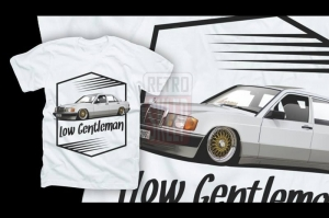 "Koszulka t-shirt ""Low gentleman - MERCEDES 190"""