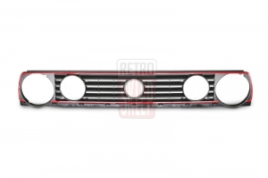 Grill VW GOLF 2 GTI-TYPE BLACK/RED