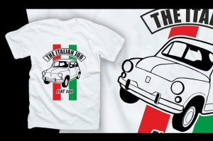 "Koszulka t-shirt ""FIAT 500 - THE ITALIAN JOB"""